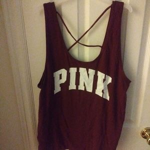 Pink VS tank top 👚